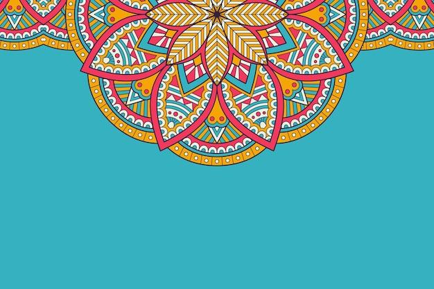 Cartão de visitas. elementos decorativos vintage. cartões florais ornamentais, padrão oriental, ilustração Vetor Premium