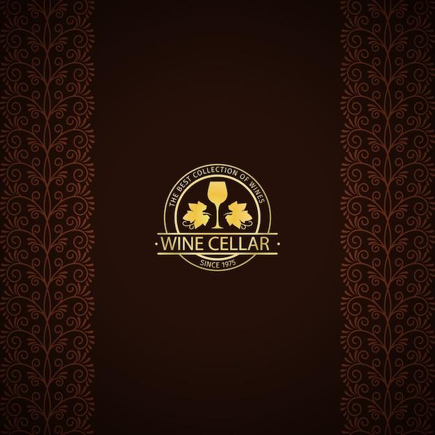 Cartão decorativo adega Vetor Premium