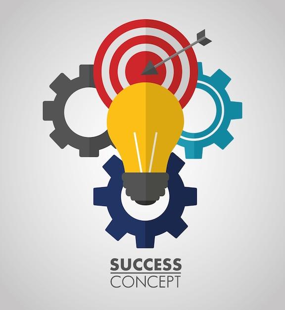 Cartão do conceito de sucesso Vetor Premium