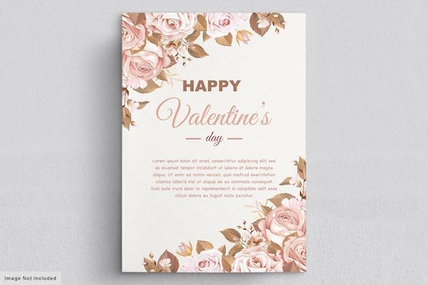 Cartão do dia dos namorados Vetor grátis