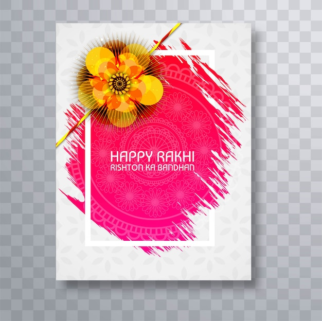 Cartão do festival de raksha bandhan Vetor grátis