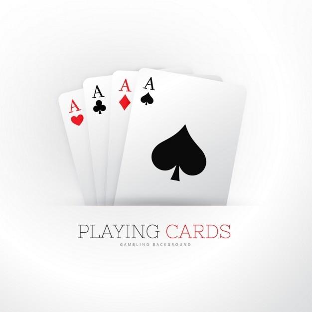 Cartão do póquer quatro ases fundo Vetor grátis