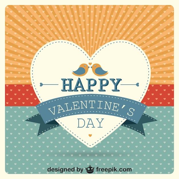 Cartão do vetor do dia dos namorados coração sunburst Vetor grátis