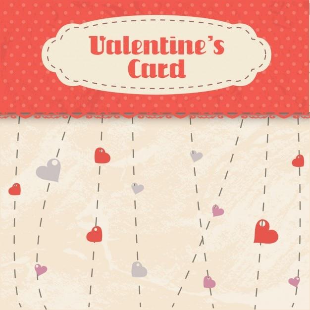 Cartão dos valentim no estilo do scrapbook Vetor grátis
