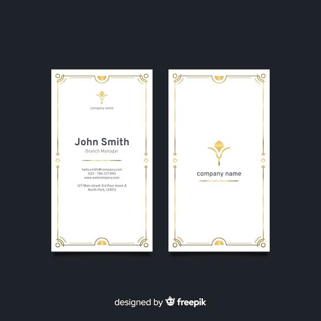 Cartão elegante branco vertical Vetor grátis