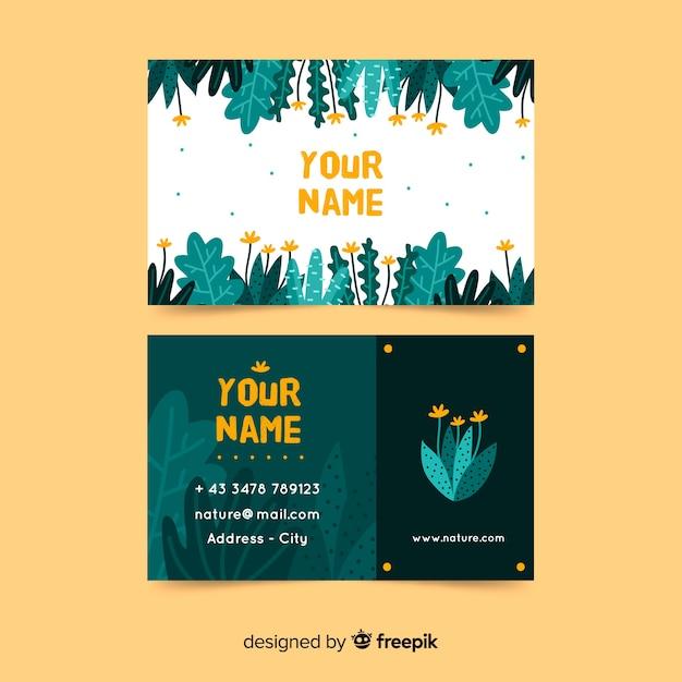 Cartão elegante com o conceito da natureza Vetor grátis