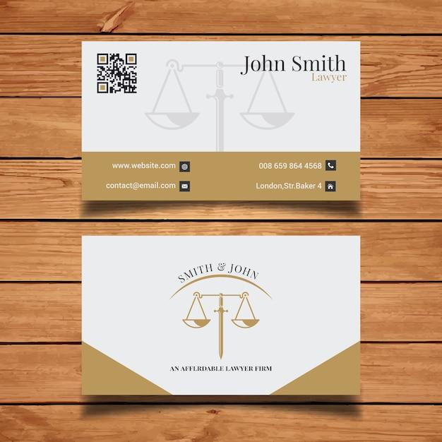 Cartão elegante do advogado Vetor grátis