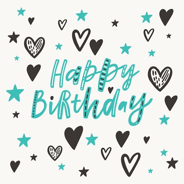 Cartão feliz aniversário Vetor Premium
