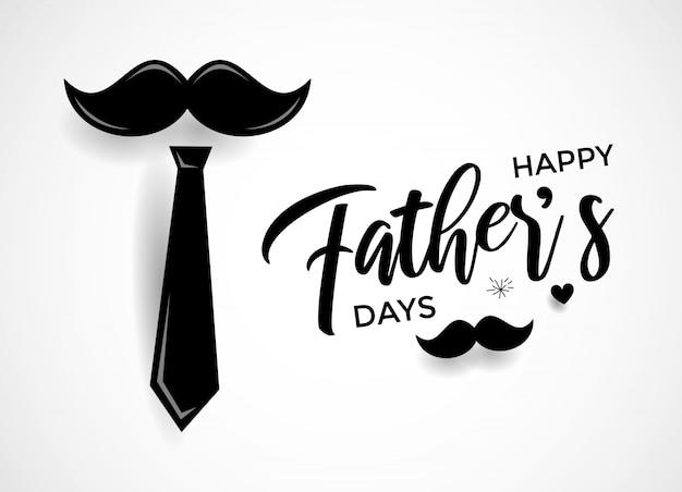 Cartão feliz da caligrafia do dia de pai Vetor Premium