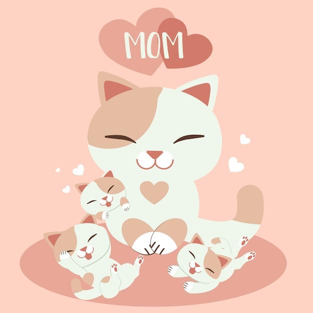 Cartão feliz do dia das mães Vetor Premium