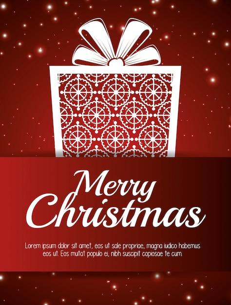Cartão feliz natal e ano novo design isolado Vetor grátis