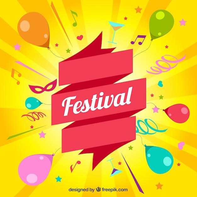 Cartão festival Vetor grátis