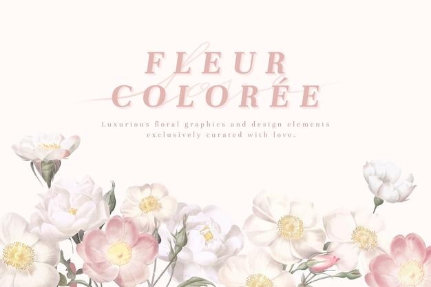 Cartão flor feminina Vetor grátis