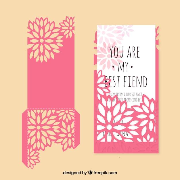 Cartão floral com frase bonita Vetor grátis