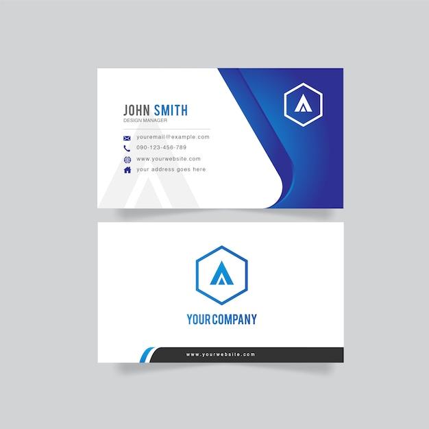 Cartão limpo Vetor Premium