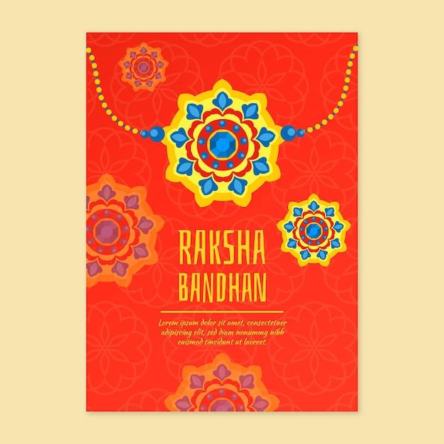 Cartão liso raksha bandhan Vetor grátis