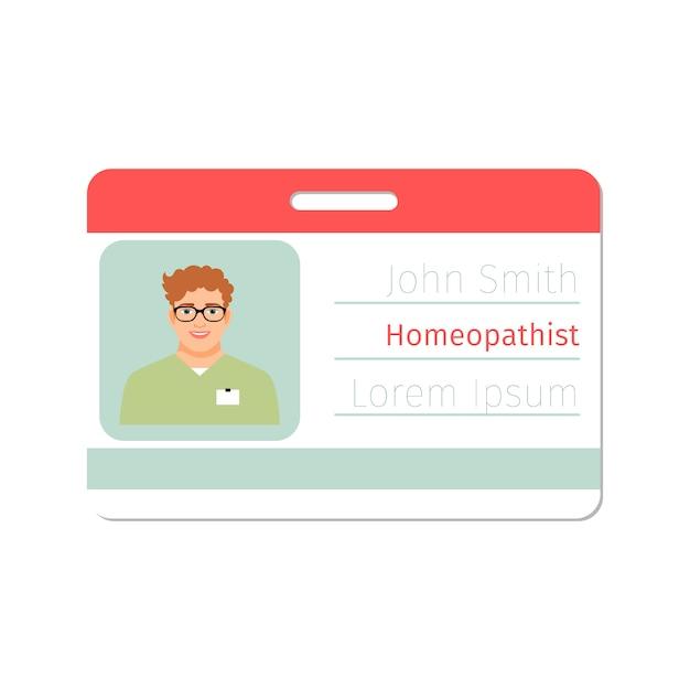Cartão médico especialista em homeopatia Vetor Premium