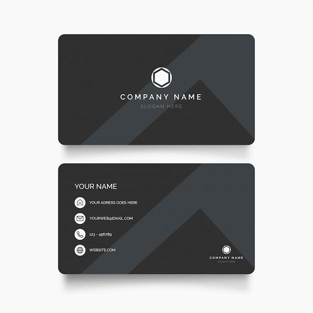 Cartão moderno com design minimalista Vetor grátis