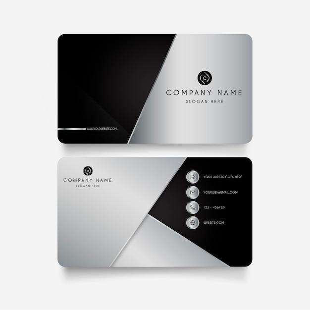 Cartão moderno com formas de metal Vetor grátis