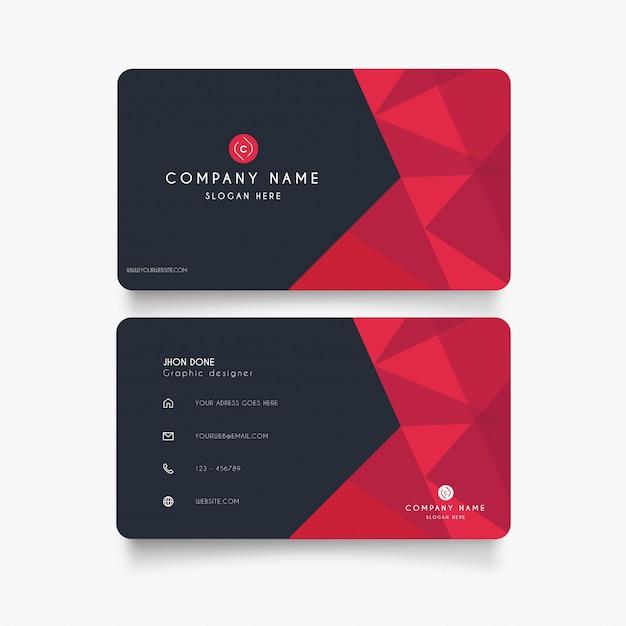 Cartão moderno com formas vermelhas Vetor grátis