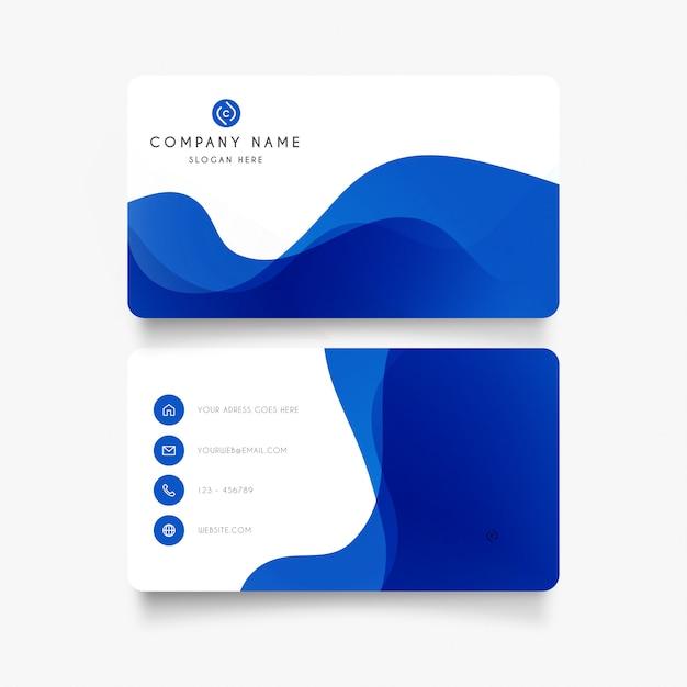 Cartão moderno com ondas abstratas Vetor grátis
