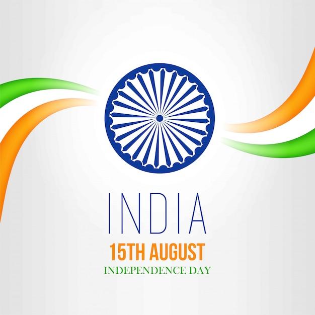 Cartão para o dia da independência da índia-15 de agosto Vetor Premium
