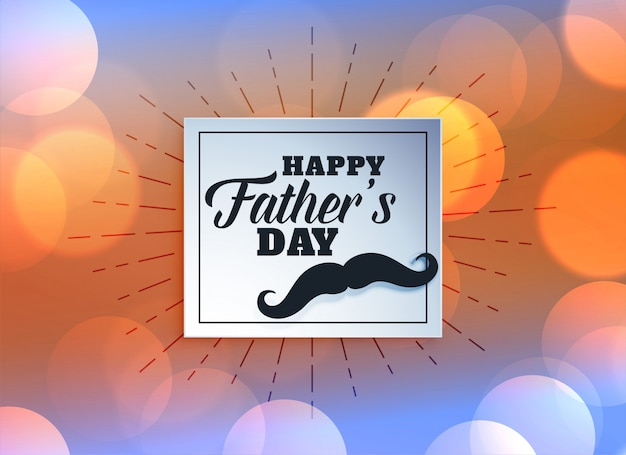 Cartão para o dia dos pais Vetor grátis