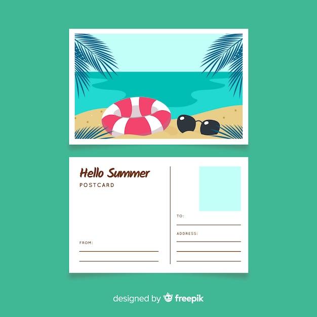 Cartão postal de férias Vetor grátis