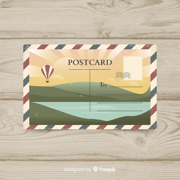 Cartão postal de verão Vetor grátis