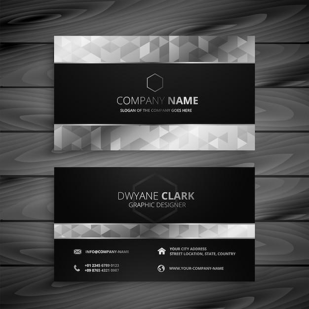 Cartão premium preto e cinza Vetor grátis