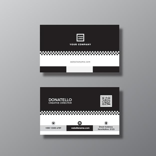 Cartão preto e branco Vetor grátis