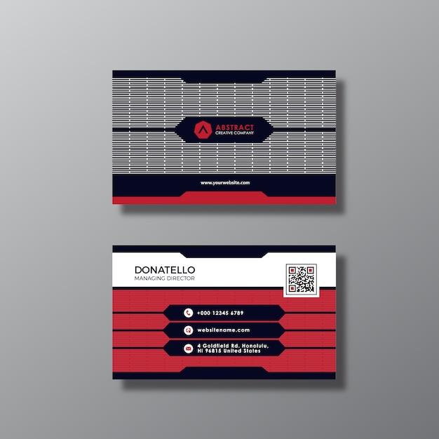 Cartão preto e vermelho Vetor grátis