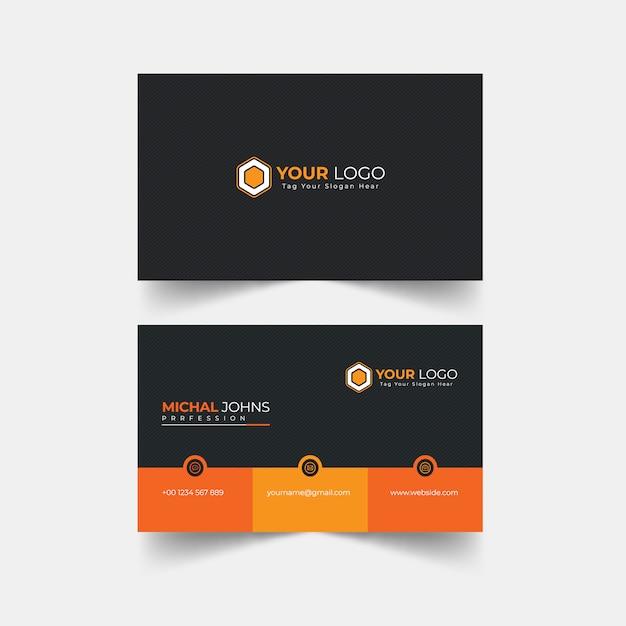 Cartão profissional moderno Vetor Premium