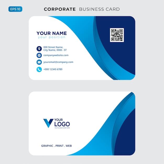 Cartão profissional moderno Vetor grátis