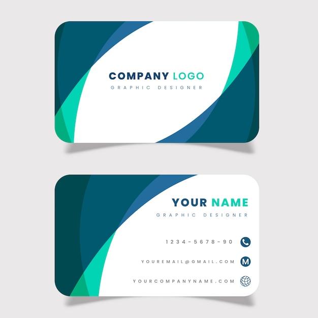 Cartão profissional Vetor Premium
