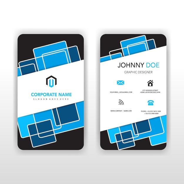 Cartão traseiro azul e traseiro vertical ilustrador Vetor grátis