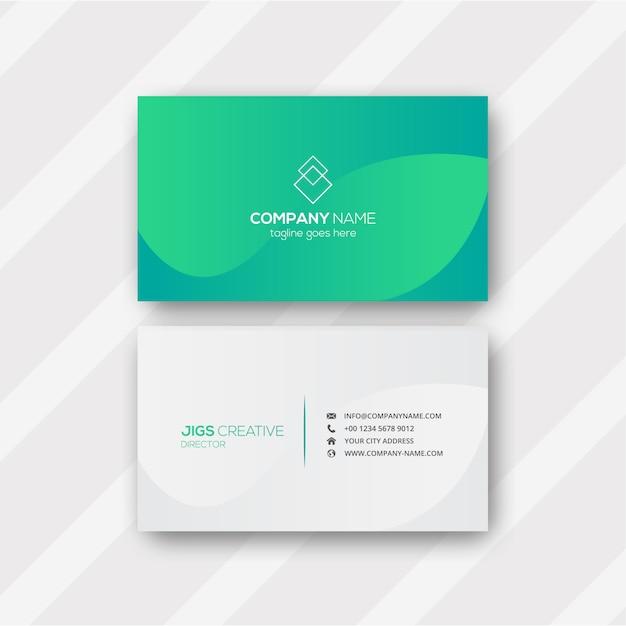 Cartão verde abstrato Vetor Premium