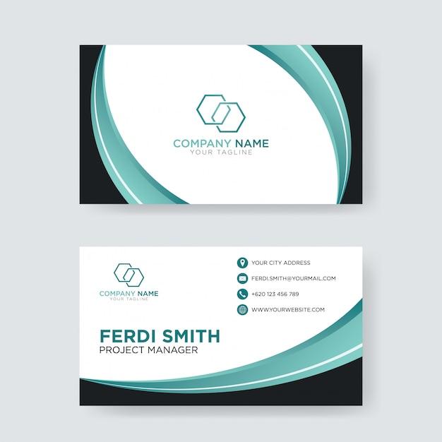Cartão verde moderno da hortelã Vetor Premium