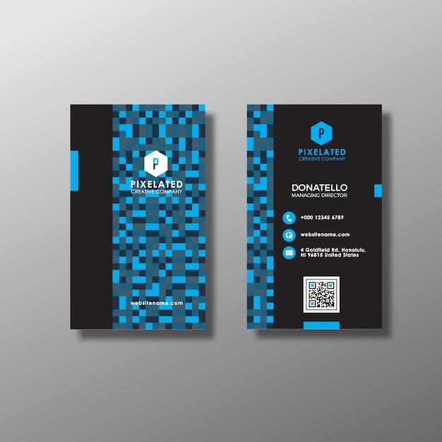 Cartão vertical azul abstrato Vetor grátis