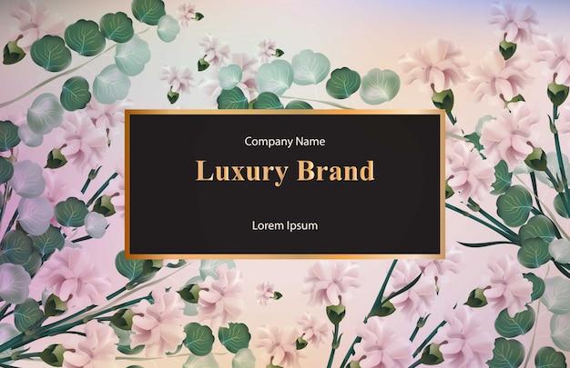 Cartão vintage com flores de aguarela. fundos de designs florais Vetor Premium