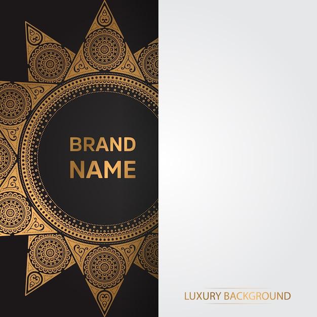 Cartão vintage de ouro sobre um fundo preto Vetor grátis