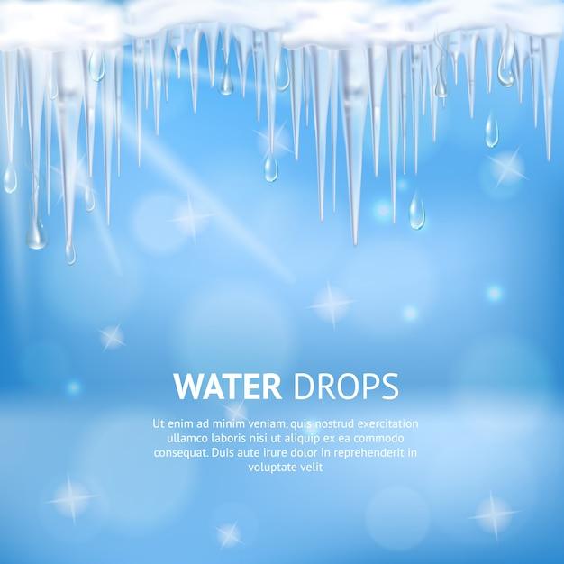 Cartaz abstrato das gotas de água Vetor grátis
