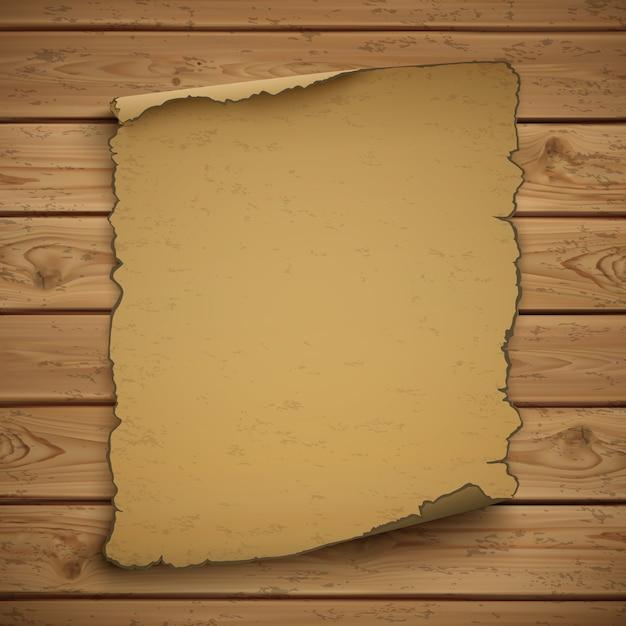 Cartaz antigo de grunge em branco do oeste selvagem em pranchas de madeira. Vetor Premium