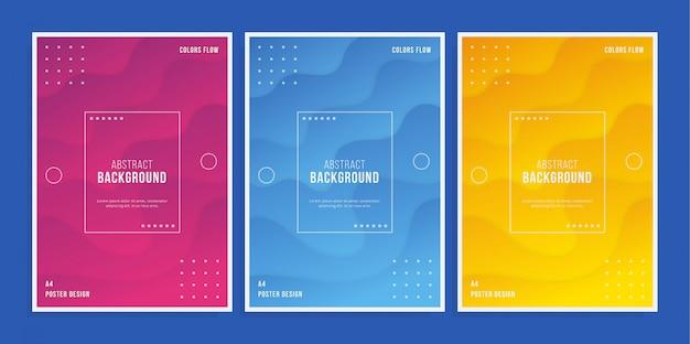Cartaz colorido 3d Vetor Premium