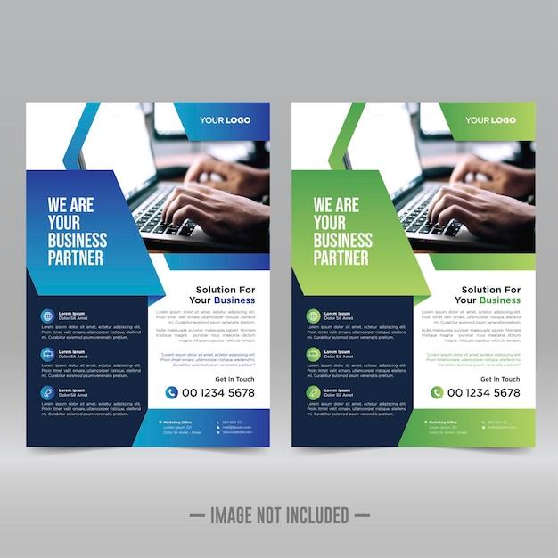 Cartaz corporativo, modelo de design de folheto Vetor Premium