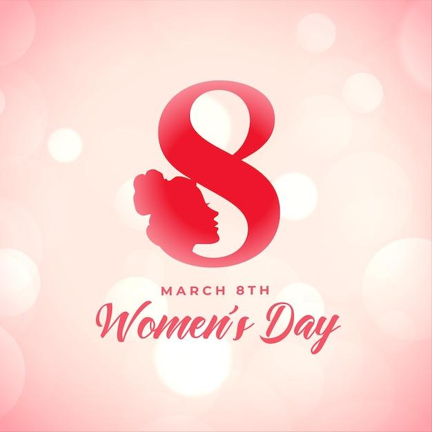 Cartaz criativo feliz dia da mulher deseja design de cartão Vetor grátis