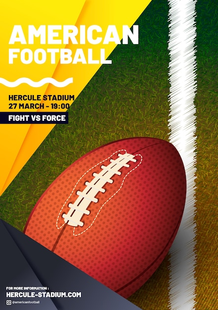 Cartaz da liga de futebol americano Vetor grátis