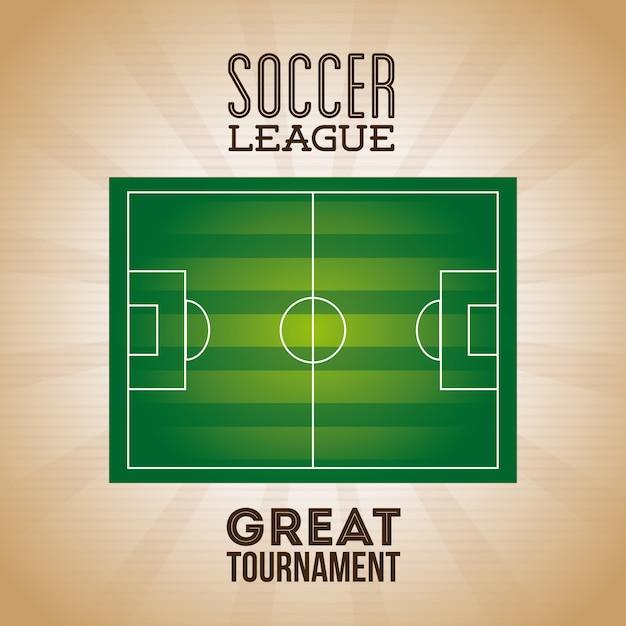 Cartaz da liga de futebol Vetor grátis