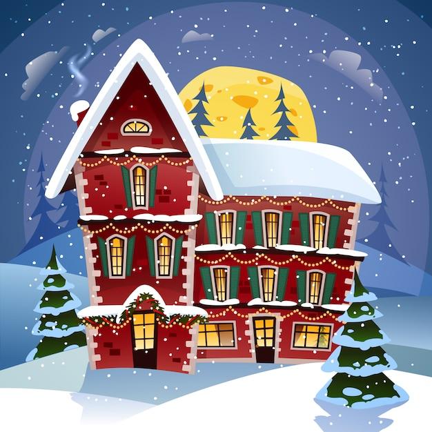 Cartaz da noite de natal Vetor grátis