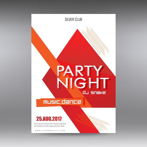 Cartaz da noite do partido Vetor grátis